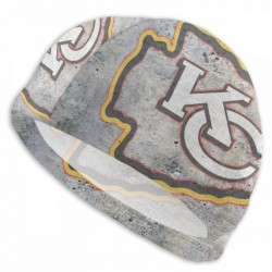 Durable NFL Kansas City Chiefs swim cap #731560 Women Men Adults , Easy to Put On and Off