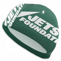 Durable NFL New York Jets swim cap #729742 Women Men Adults , Easy to Put On and Off